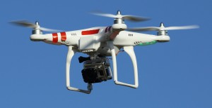 Typical drone governed by FAA regulations on drones